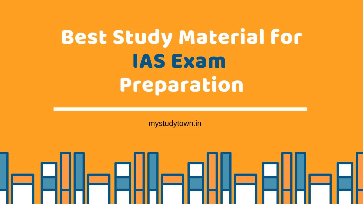 best study materials for IAS exam