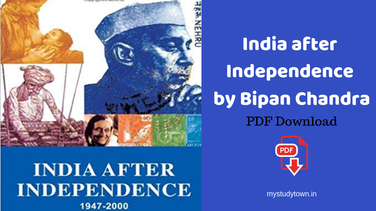 India after Independence by Bipan Chandra PDF