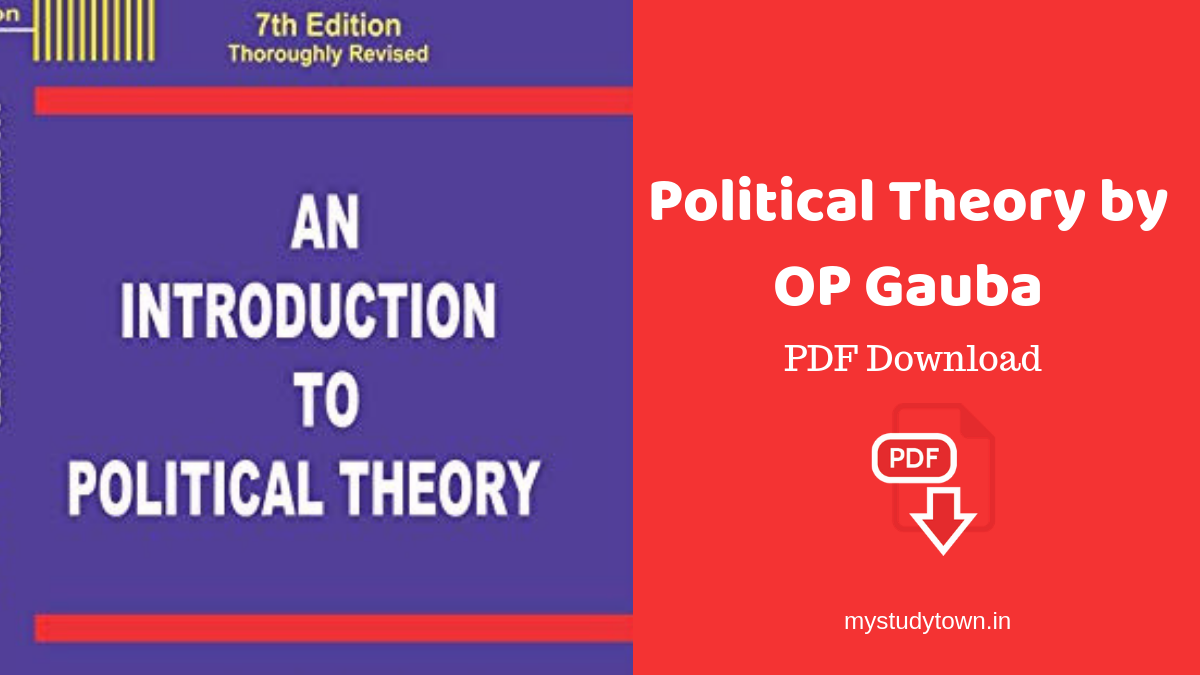 Political Theory by OP Gauba PDF