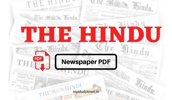 the Hindu newspaper PDF