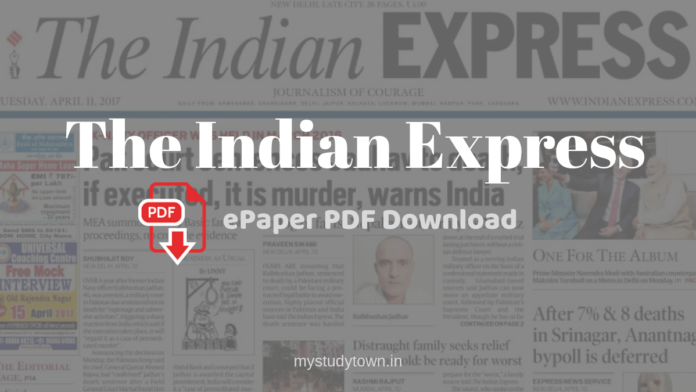 Indian Express epaper PDF download
