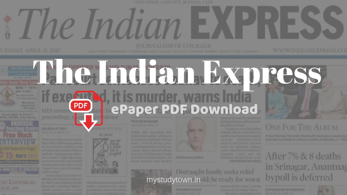 Indian Express epaper PDF download