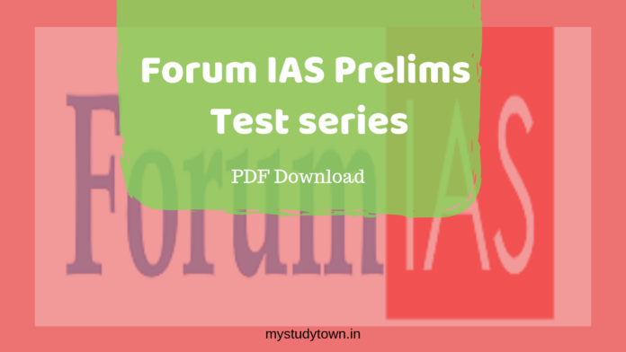 Forum IAS Test series