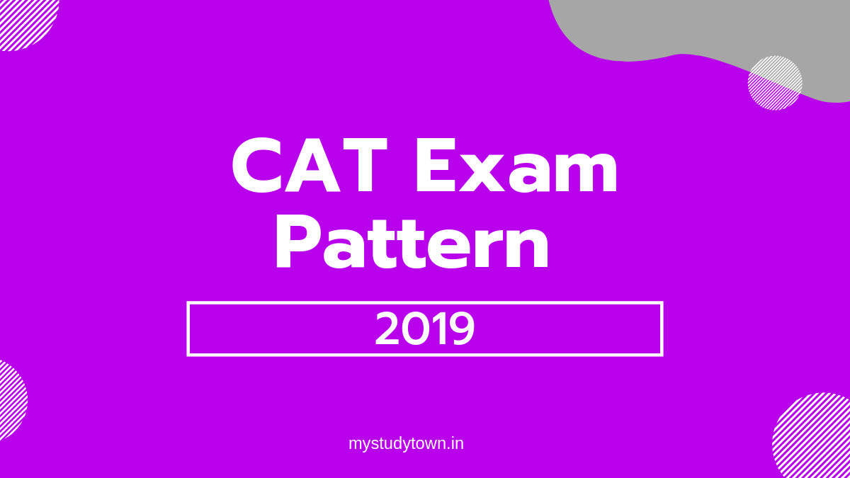 CAT Exam Pattern 2019