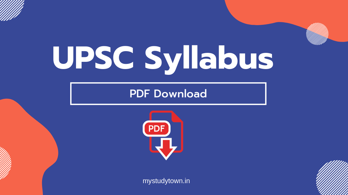 UPSC Syllabus pdf