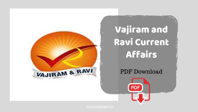 Vajiram and Ravi Current Affairs PDF