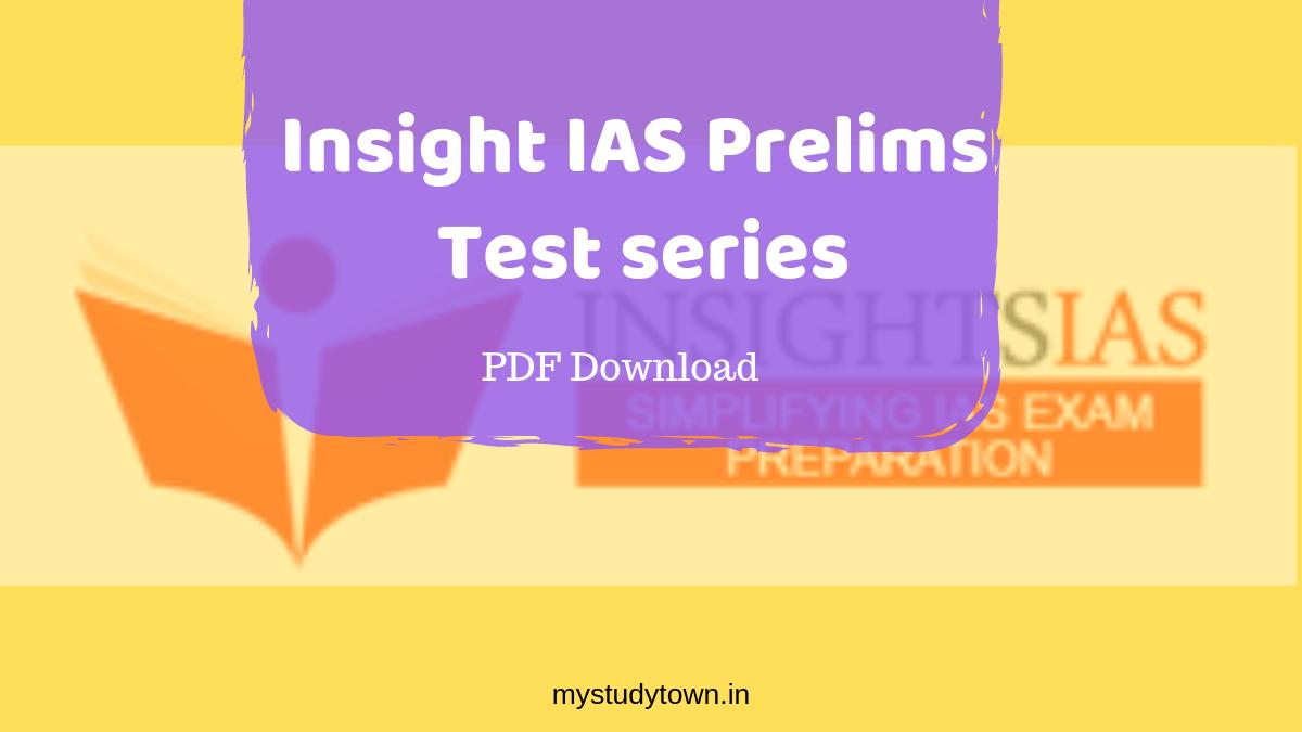 Insight IAS Test series