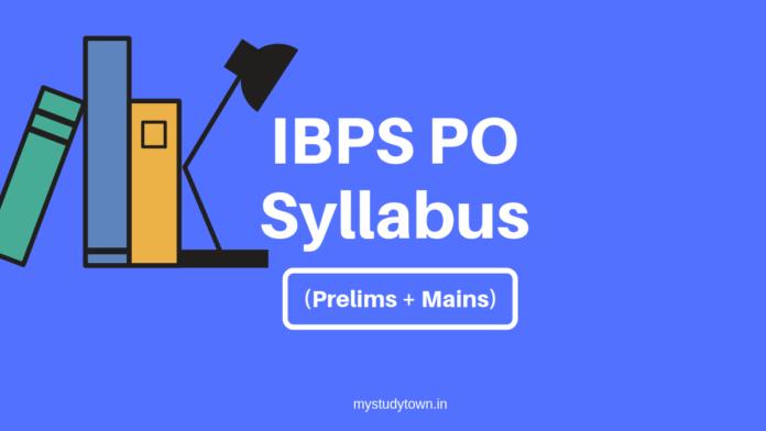 IBPS PO Syllabus 2019