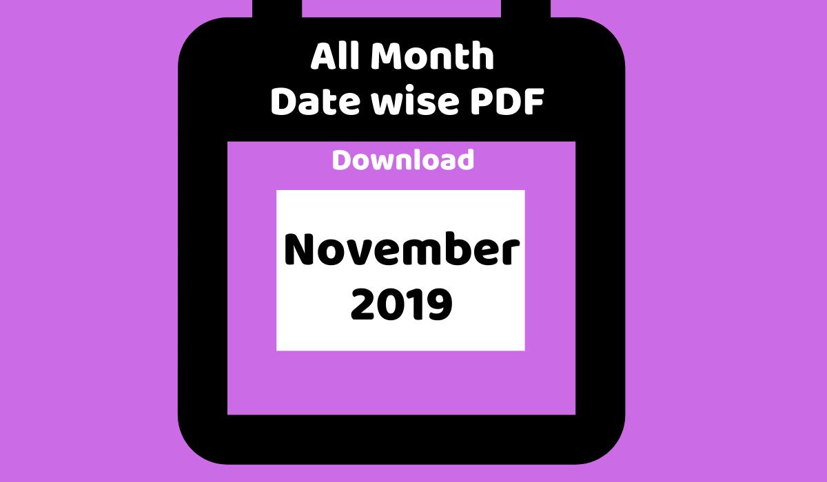 Monthly PDF November 2019