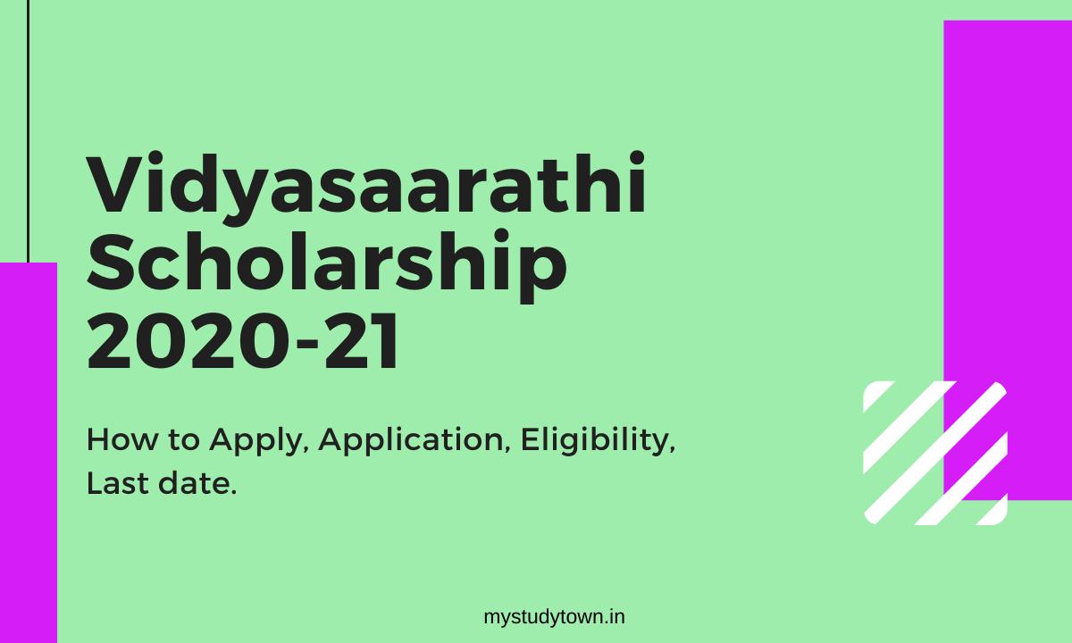 Vidyasaarathi Scholarship 2020