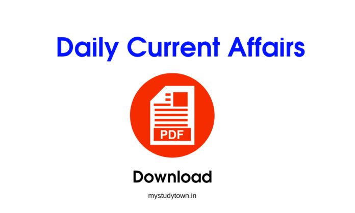 Daily Current Affairs pdf