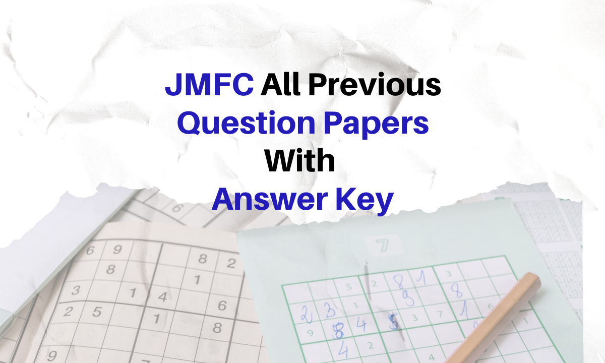 JMFC Question Papers PDF