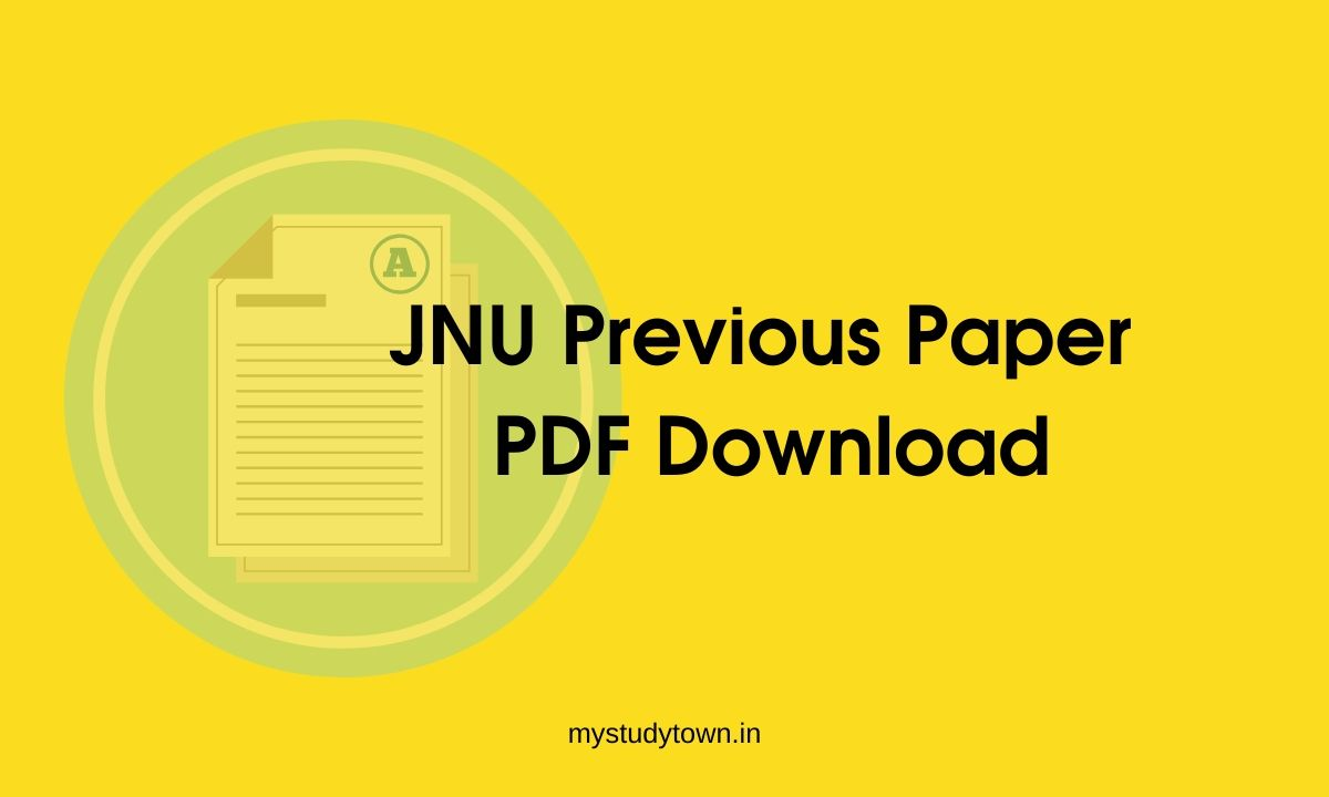 JNU Previous Paper PDF Download