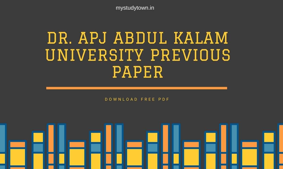 Dr. APJ Abdul Kalam University