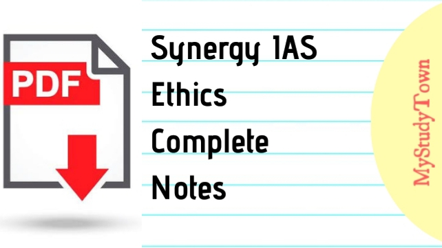 Synergy IAS Ethics Complete Notes