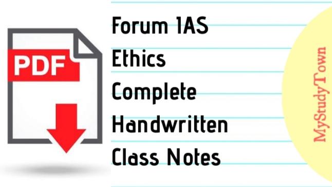 Forum IAS Ethics Complete Handwritten Class Notes