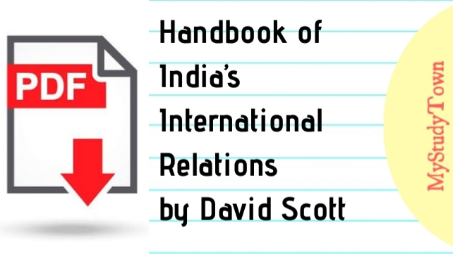Handbook of India's International Relations - David Scott