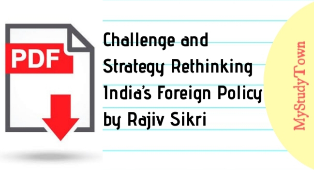 Challenge and Strategy Rethinking India's Foreign Policy by Rajiv Sikri PDF
