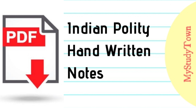 Indian Polity Hand Written Notes