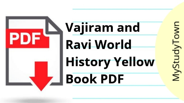 Vajiram and Ravi World History Yellow Book