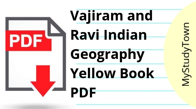 Vajiram and Ravi Indian Geography Yellow Book
