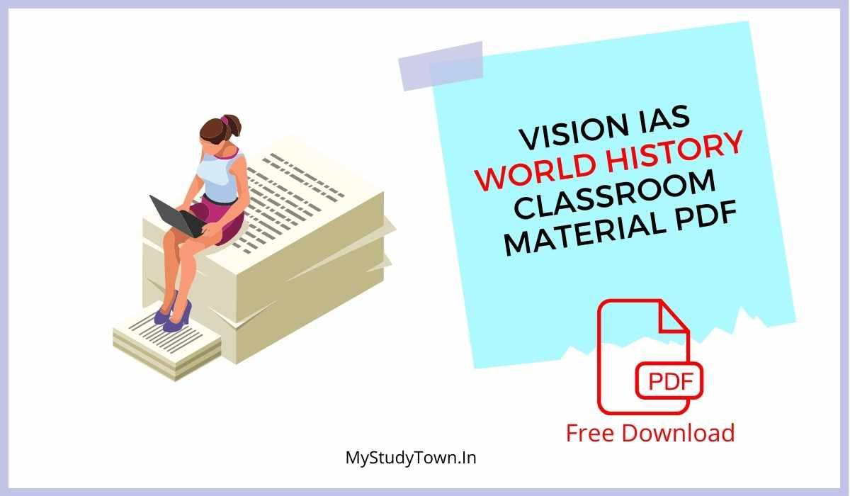 Vision IAS World History Classroom Material PDF