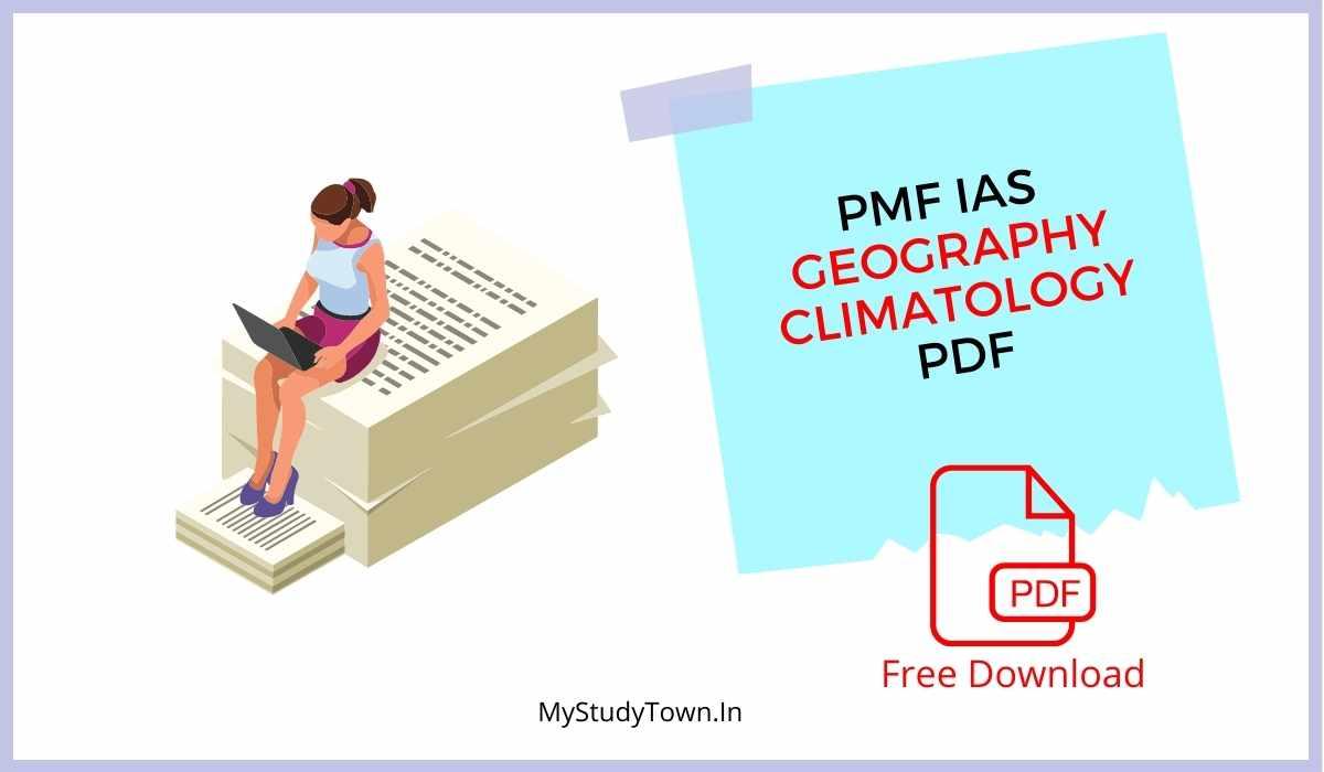 PMF IAS Geography Climatology PDF FREE Download