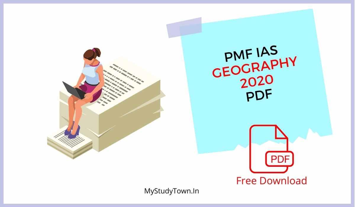 PMF IAS Geography 2020-21 PDF
