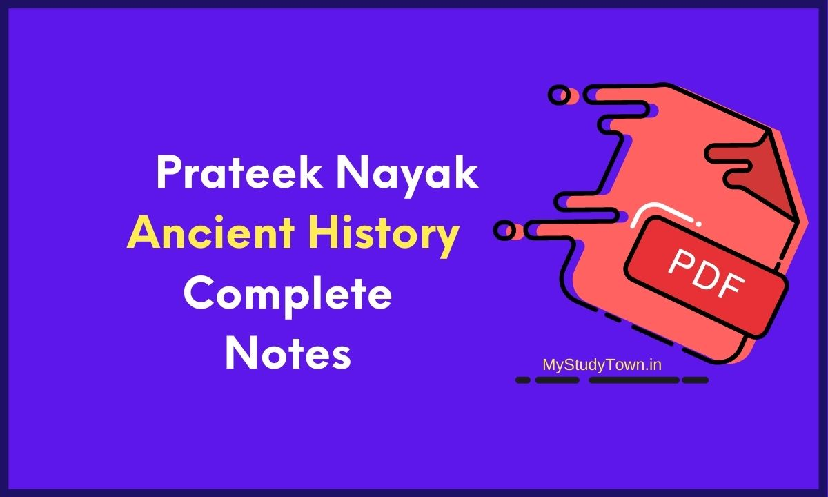 Prateek Nayak Ancient History Complete Notes PDF