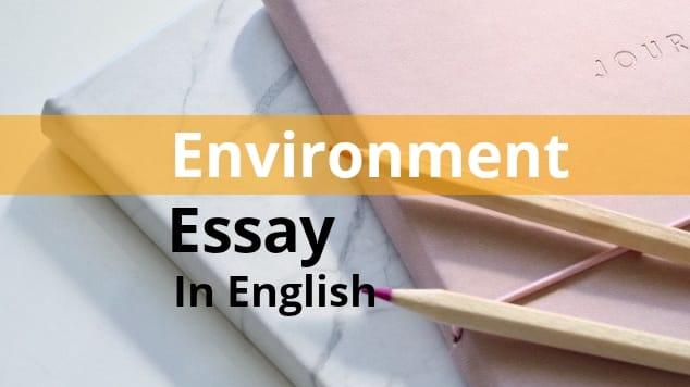 Environment essay in english